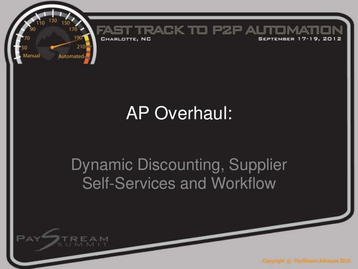 Dynamic Discounting, Supplier Self Services and Workflow