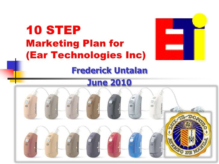 marketing plan for ear technologies