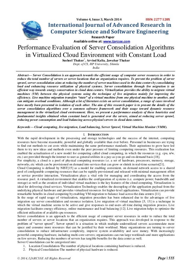 Performance Evaluation of Server Consolidation Algorithms  in Virtualized Cloud Environment with Constant Load