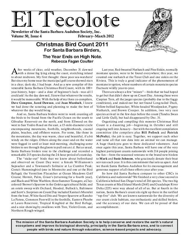 Mar 2012 Santa Barbara Audubon
