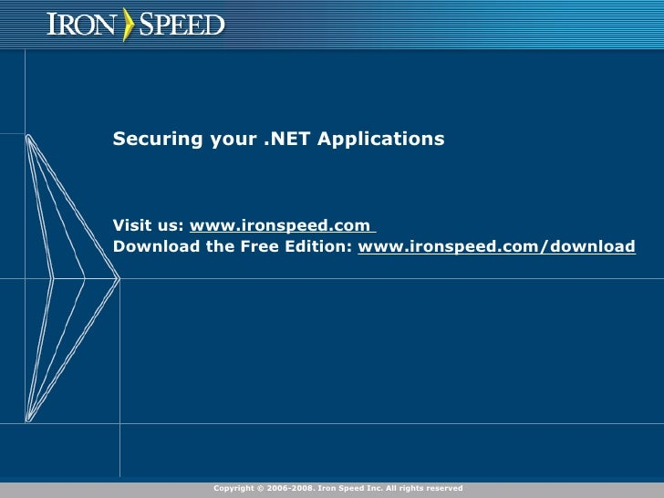 Securing Your .NET Application