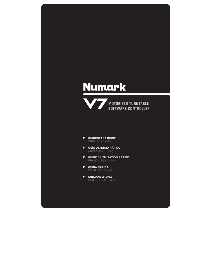 V7 Digital DJ Controller Quickstart Guide