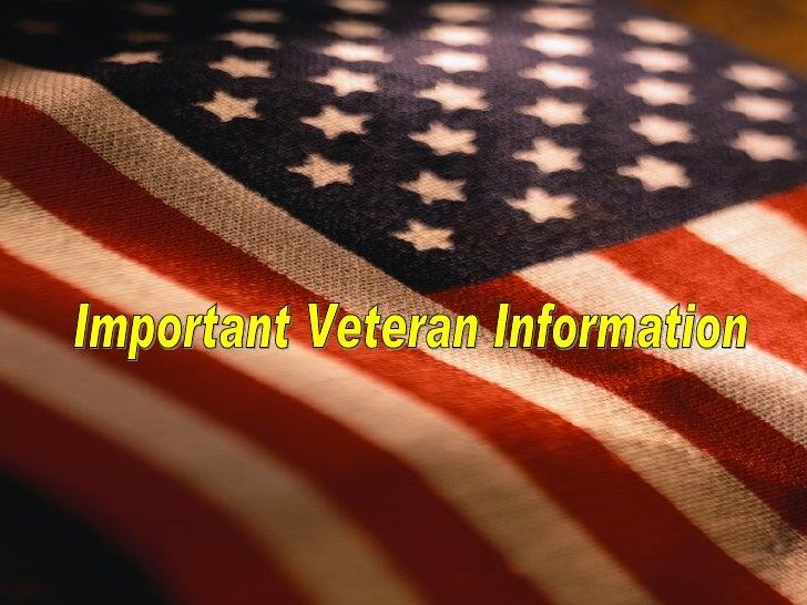 Important Veteran Information