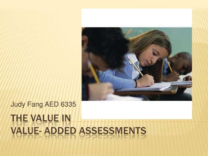 Value Added Assessment