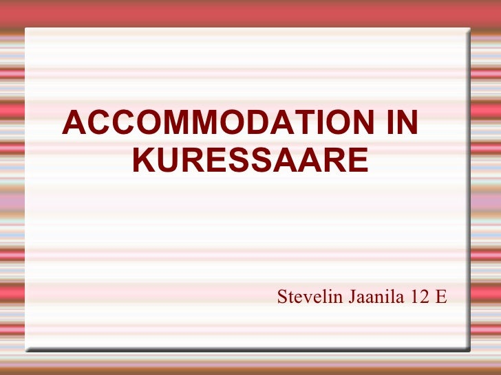 Accomodation in Kuressaare
