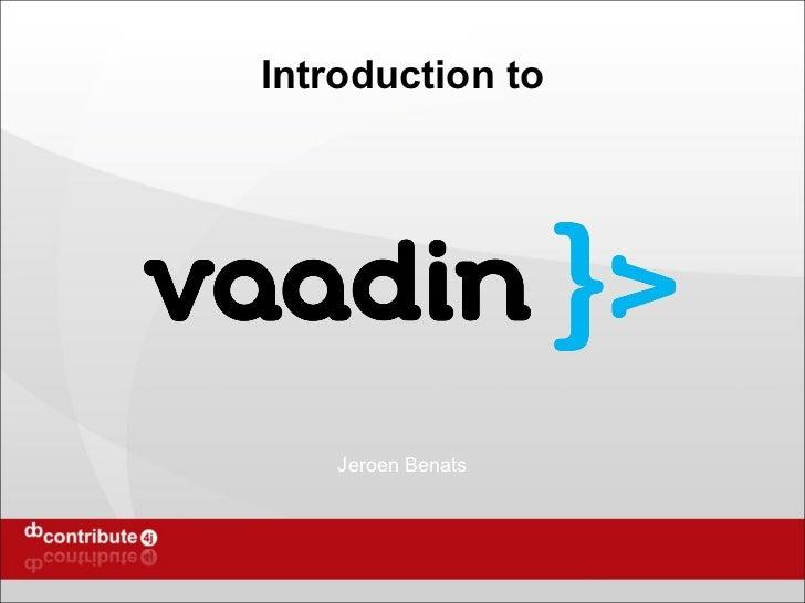 Introduction to Vaadin