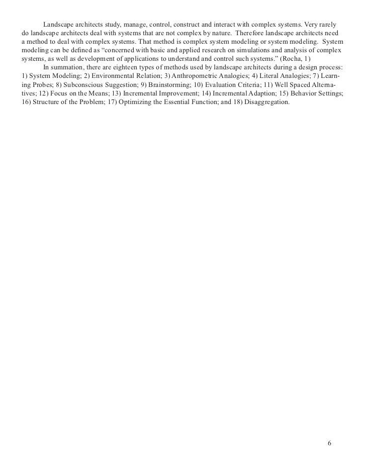 VA: A Study of Landscape Architecture Design Methods - Virginia Polyt�