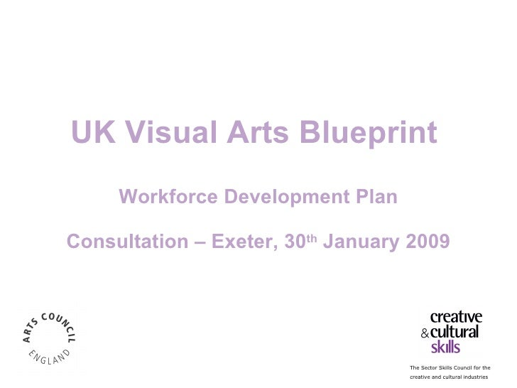 UK Visual Arts Blueprint  Workforce Development Plan Consultation – Exeter, 30 th  January 2009 Research Carried out by TB...