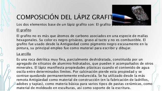 Materia prima l piz grafito for Composicion del marmol