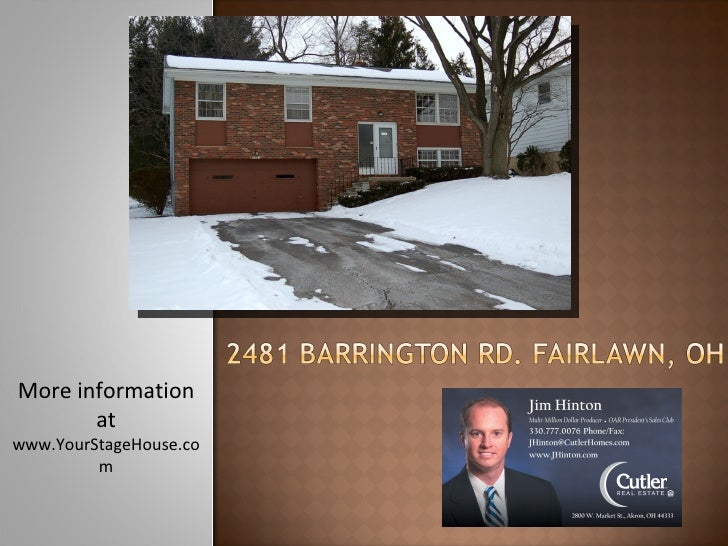 Home Staging: 2481 Barrington Fairlawn, OH