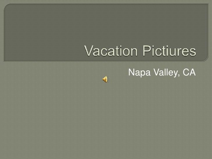 Vacation Pictiures<br />Napa Valley, CA<br />