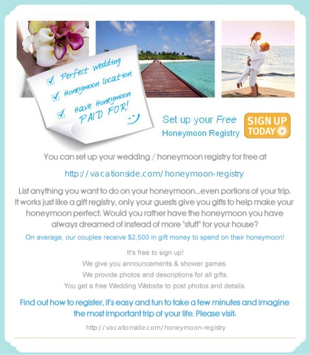 http://vacationside.com/honeymoon-registry http://vacationside.com/honeymoon-registry