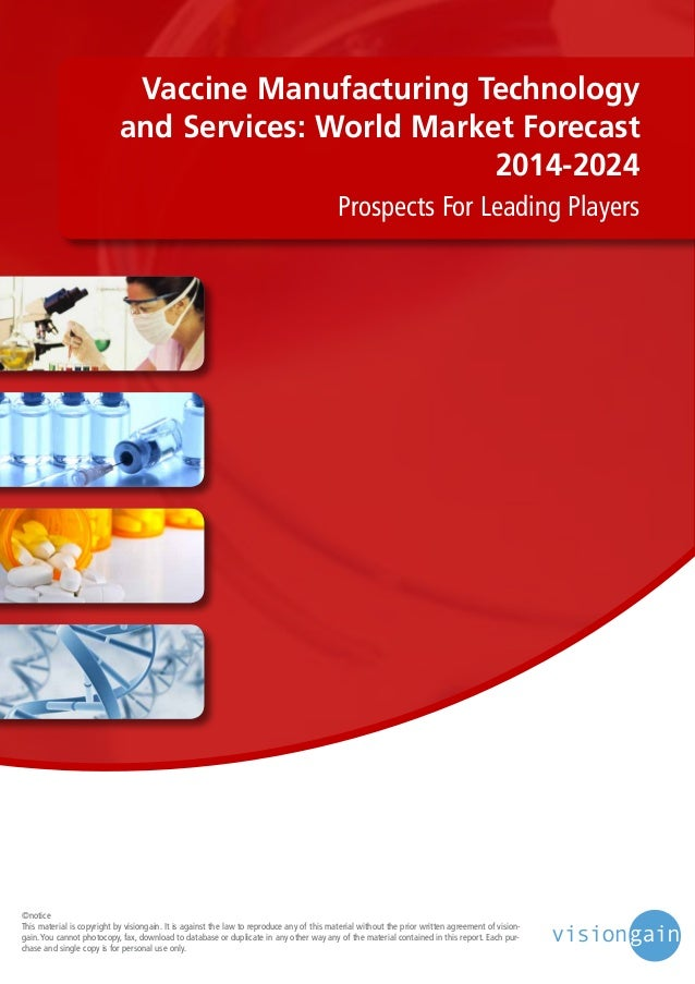 Vaccine Manufacturing Technology and Services World Market 2014 2024