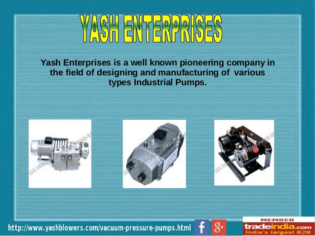 Vacuum Pressure Pumps Manufacturer, Exporter, Faridabad