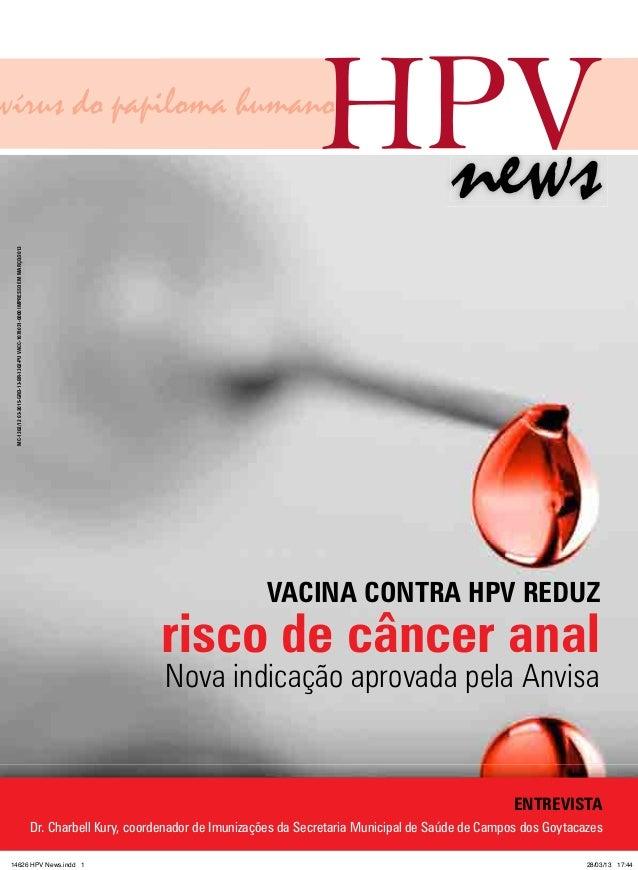 Vacina contra hpv reduz risco de câncer anal