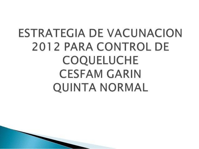 Vacunacion estrategia capullo CESFAM GARIN 2012