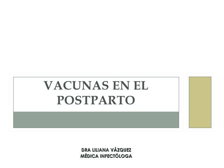 Vacunas en el postparto