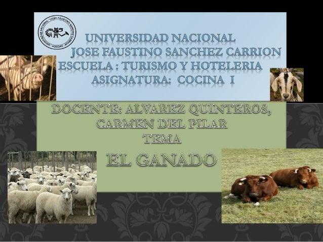 es el conjunto de animales criados por el ser humano, sobre todo mamíferos, para la producción de carne y sus derivados qu...