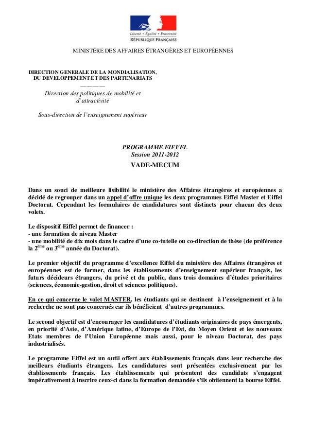 MINISTÈRE DES AFFAIRES ÉTRANGÈRES ET EUROPÉENNES DIRECTION GENERALE DE LA MONDIALISATION, DU DEVELOPPEMENT ET DES PARTENAR...