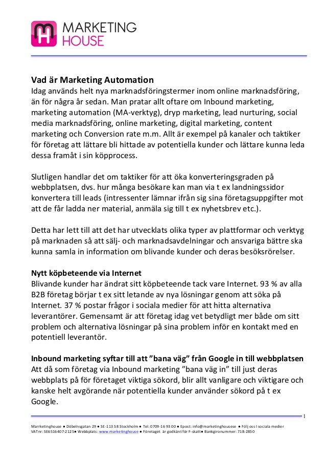 Vad är marketing automation