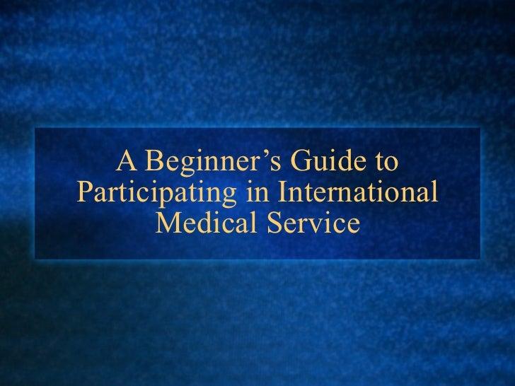 International and Global Health Service