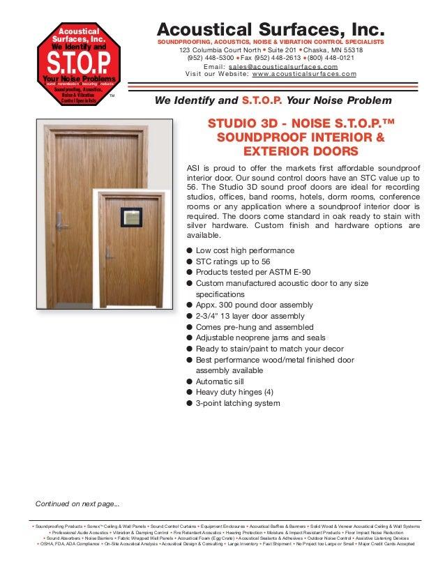 Soundproof Interior & Exterior Doors