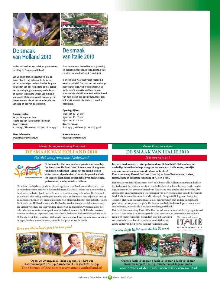 Vakantie & Vrije Tijd 108 Advertentie