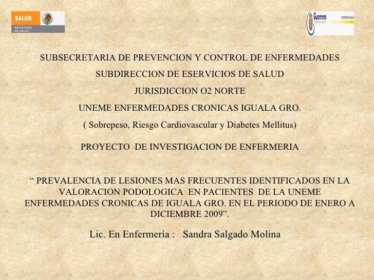 SUBSECRETARIA DE PREVENCION Y CONTROL DE ENFERMEDADES SUBDIRECCION DE ESERVICIOS DE SALUD JURISDICCION O2 NORTE UNEME ENFE...
