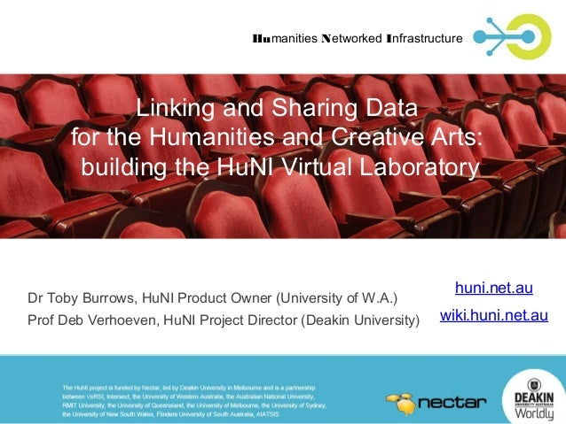 Humanities Networked Infrastructure  Linking and Sharing Data for the Humanities and Creative Arts: building the HuNI Virt...