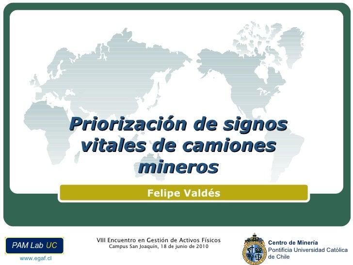 Priorización de signos vitales de camiones mineros Felipe Valdés
