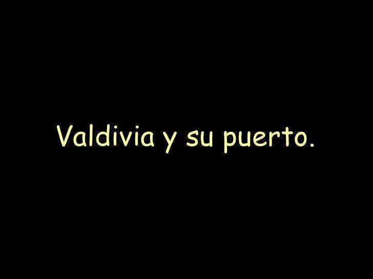 Valdivia y su puerto.