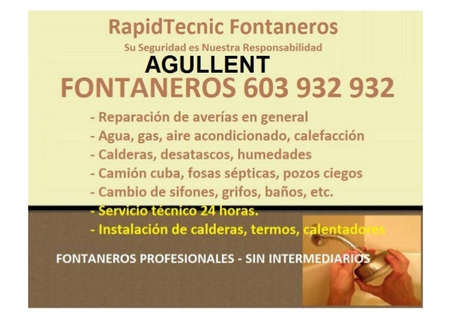 Fontaneros Valencia 603 932 932