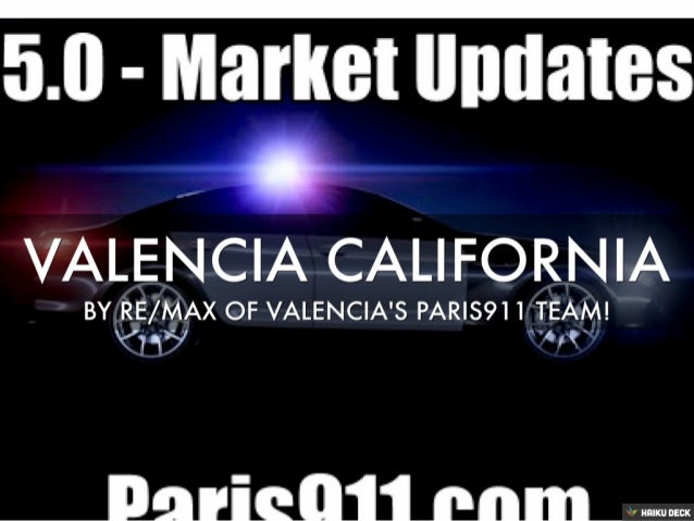 Valencia CA Real Estate Market Update
