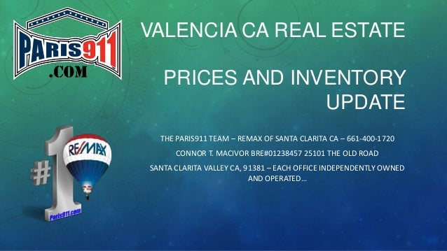 Valencia CA real estate prices and inventory year end update