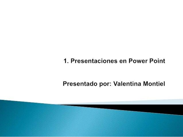  PowerPoint es la herramienta que nos ofrece Microsoft Office para crear presentaciones.
