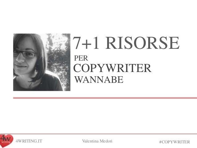 Risorse per copywriter wannabe