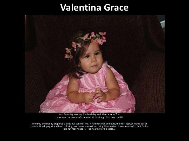 Valentina's 1st birthday