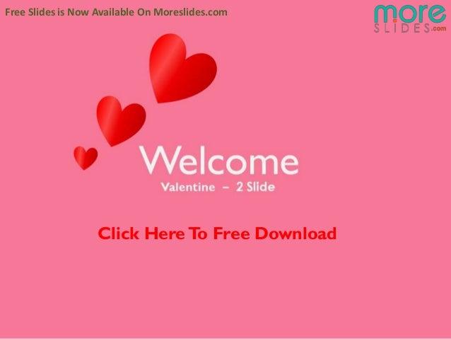 Free Valentine PowerPoint presentaion   Moreslides.com