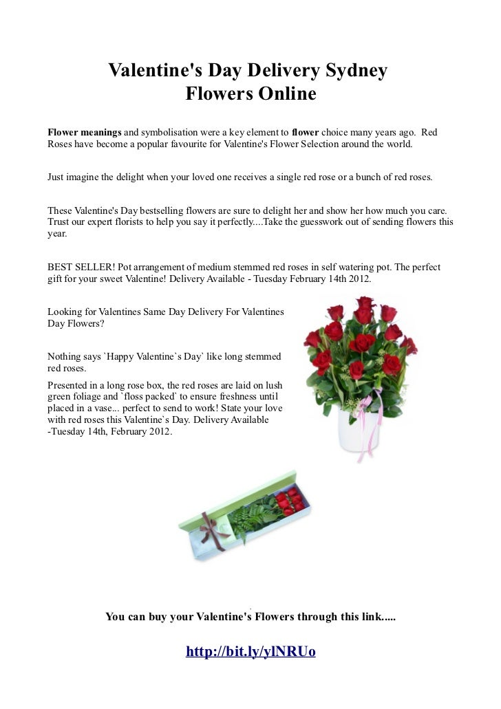 Valentines Day Delivery Sydney                        Flowers OnlineFlower meanings and symbolisation were a key element t...