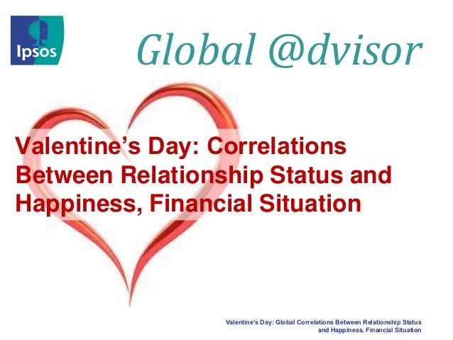 Global @dvisor Valentine's Day: Correlations Between Relationship Status and Happiness, Financial Situation  Valentine's D...