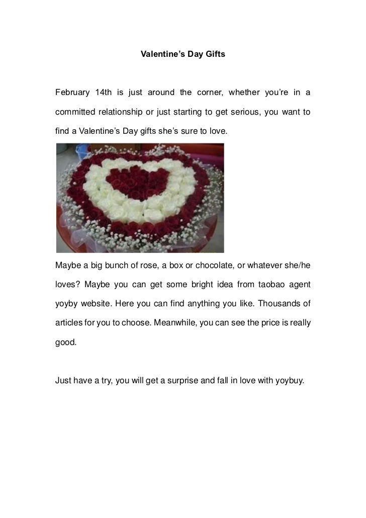 Valentine's Day GiftsFebruary 14th is just around the corner, whether you're in acommitted relationship or just starting t...
