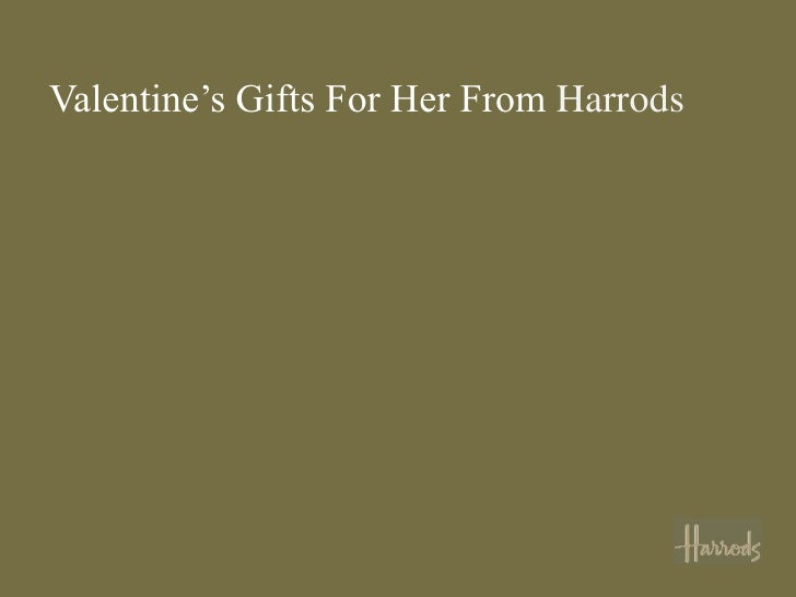 Valentine's Gifts For Her From Harrods