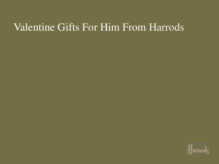 Valentine's Gifts for Him from Harrods