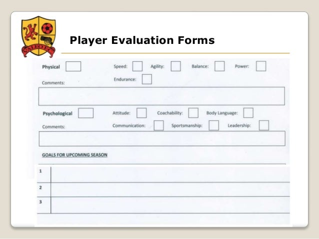 college soccer player evaluation form images