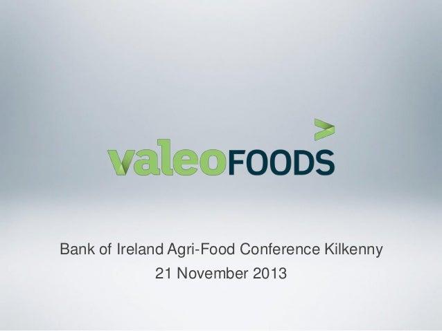Bank of Ireland Agri-Food Conference Kilkenny 21 November 2013