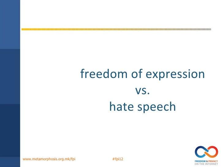 Valentina Pelitzer - Freedom of expression vs. hate speech