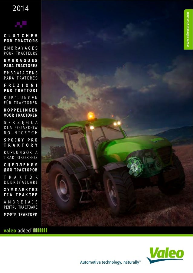 Valeo tractors & agricultural machinery transmission systems clutches 2014 catalogue 958207