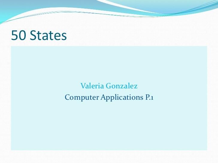 Valeria gonzalez 50states