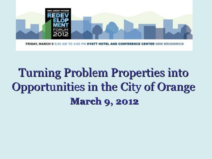 NJ Future Forum 2012 Problem Properties Jackson