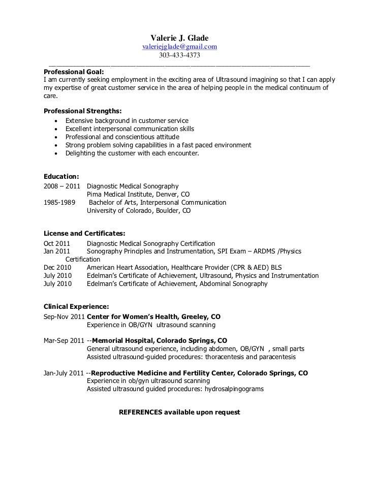 sonographer resume sample resume cv cover letter sonographer ...